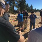 Team Building on the Beach Lake Tahoe