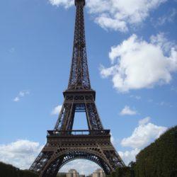 Eifel tower blue sky
