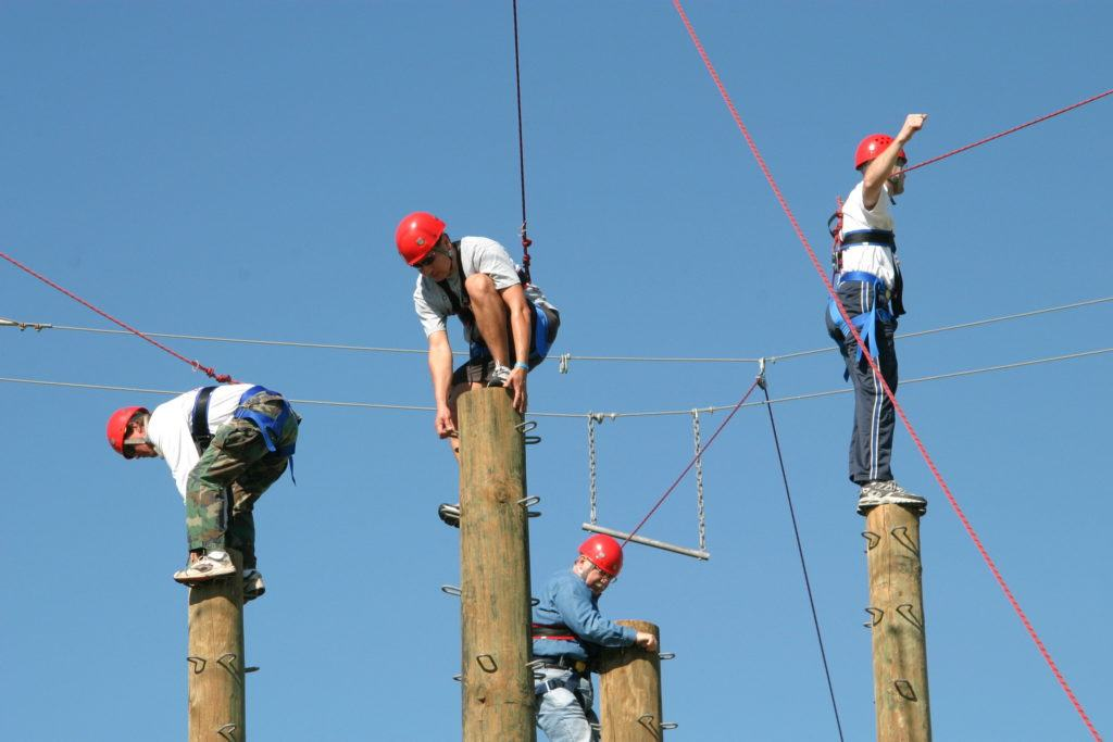 ropes courses team building activities